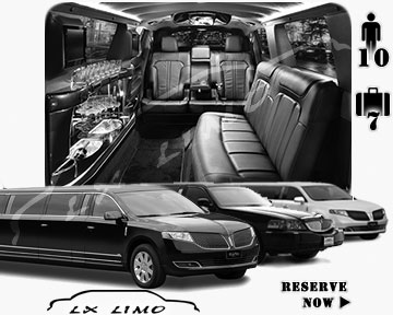 Stretch Limo airport shuttle in Toronto